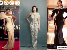 female celeb styles at the AMVCA