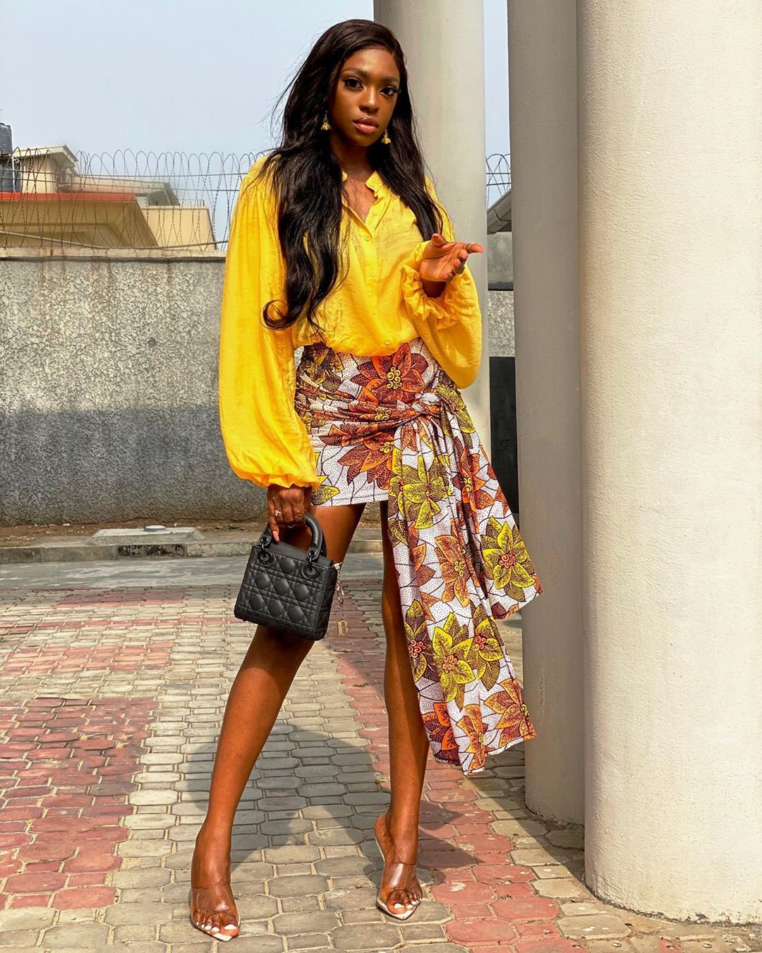 Beverly Osu Combination Of Ankara And English Keeps It Casual And Pretty