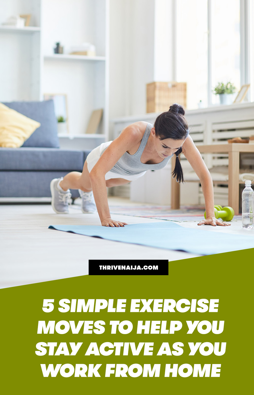 how to stay active at home with exercise
