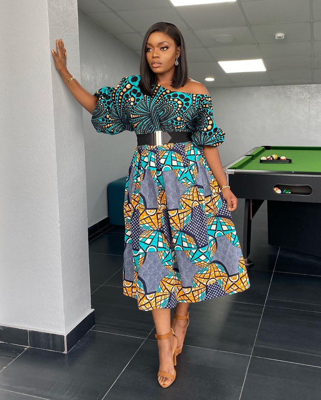 Bisola Aiyeola Struts Her Ankara Look With Confidence As Always