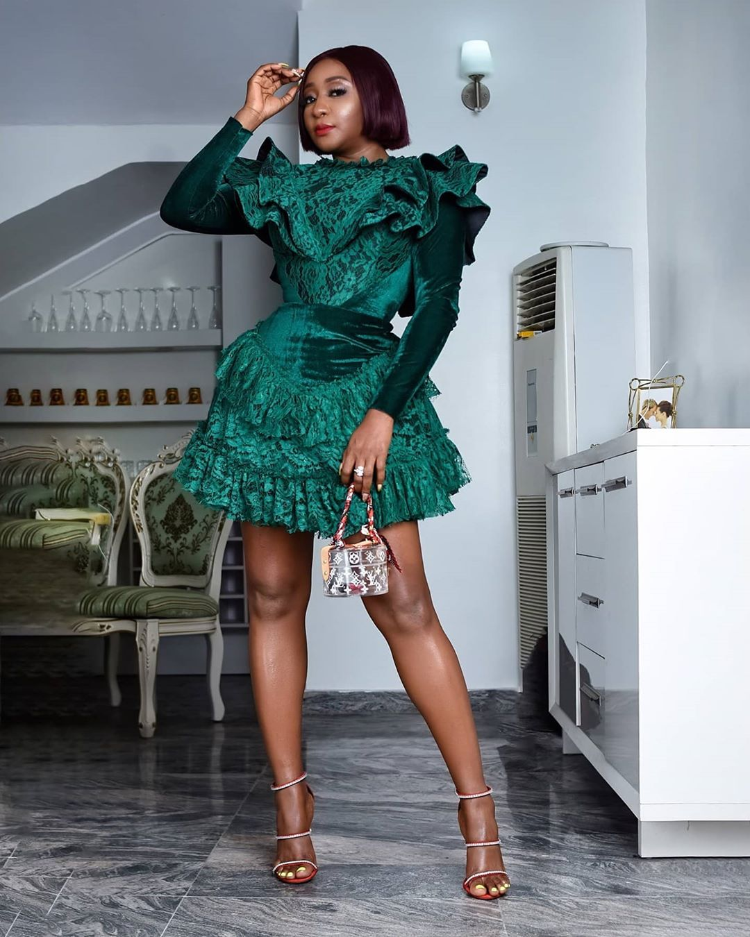 Ini Edo Makes A Fashion Stataement In A Casual Mini Gown