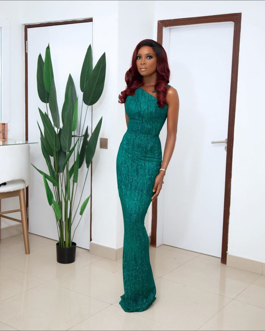 Jemima Osunde Looks Ready For An Elaborate In Event In Her Sleek Pretty Gown
