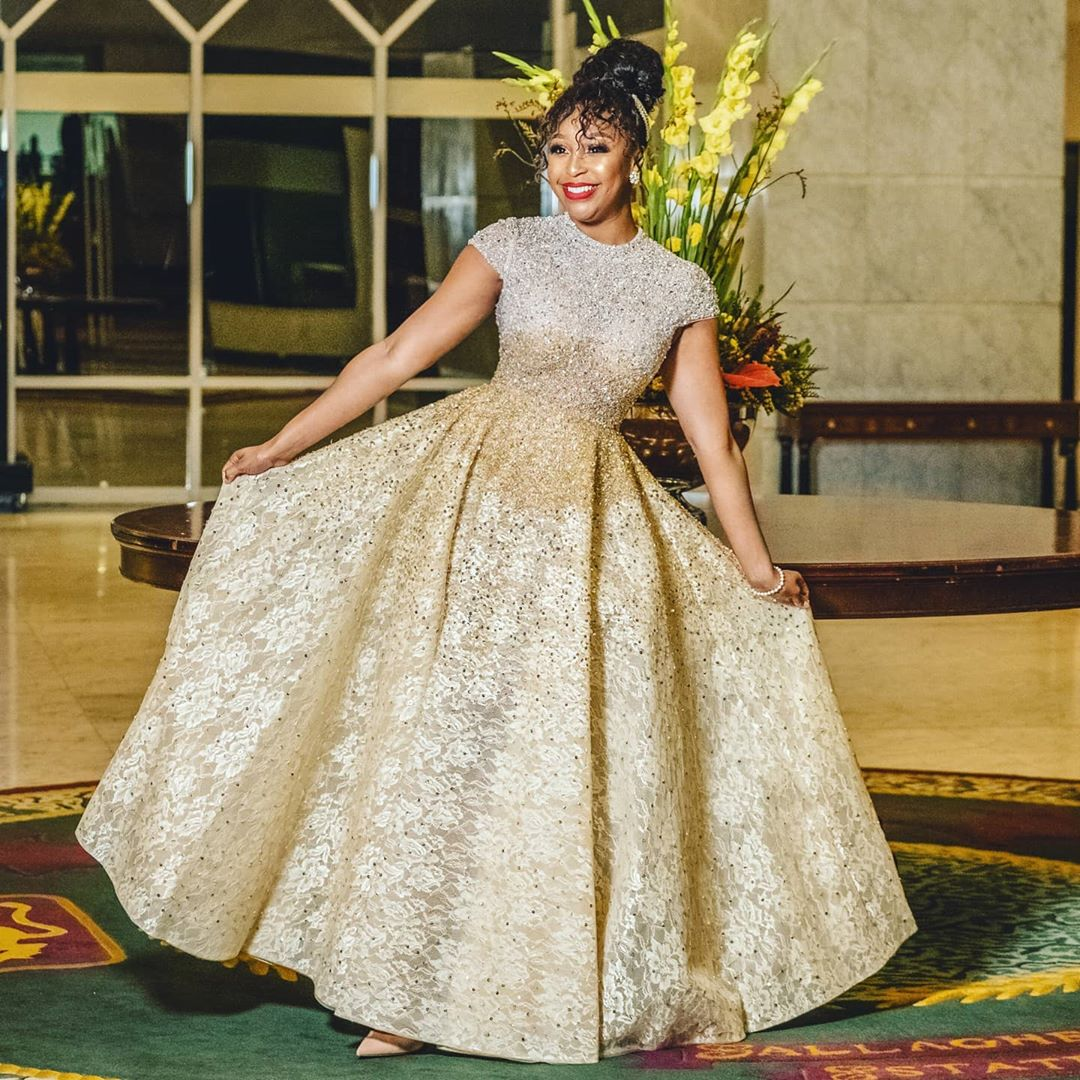 Minnie Dlamini Ball Gown Is Sweeping Her Fans Off Their Feets