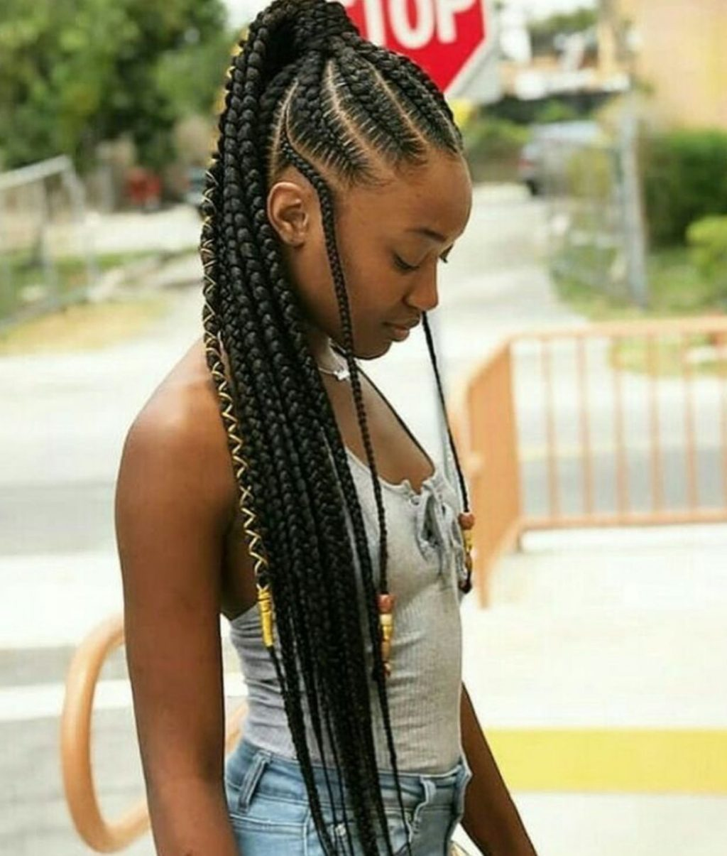 Latest fulani braid hairstyle