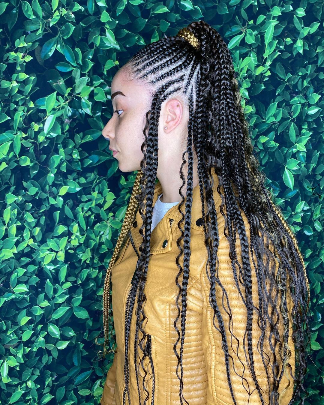 Fulani Braid With Loose Ends