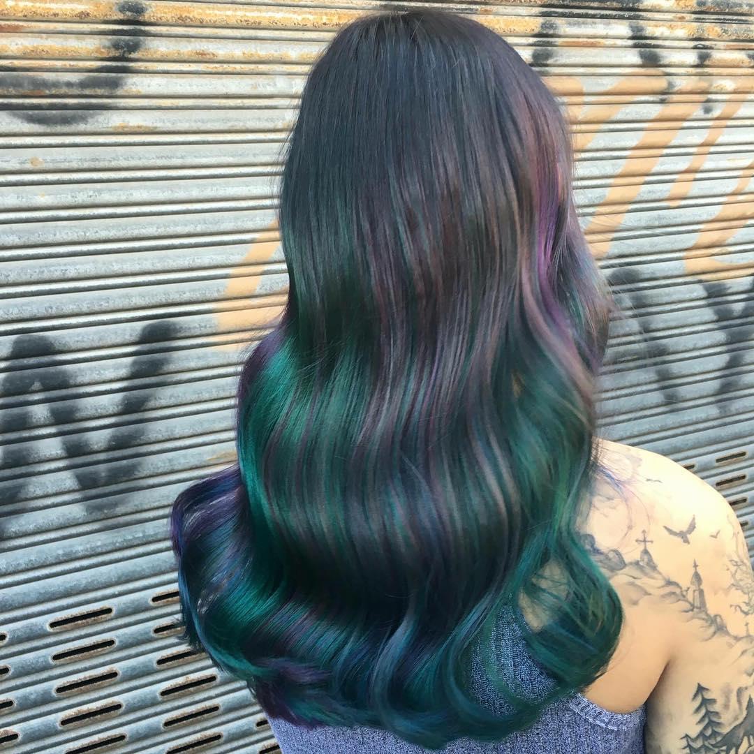 Oil slick hairstyle ideas