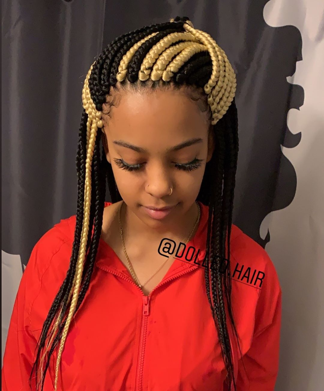 Meadium box braids that are trendy in 2020