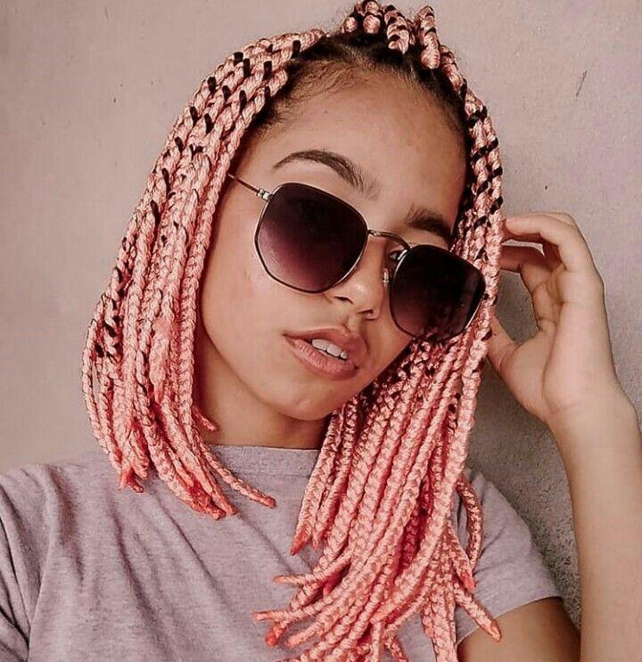 Short Pink Jumbo Braid