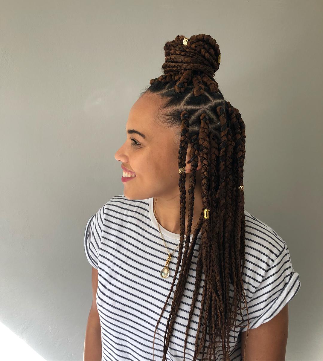 25 Beautiful Jumbo Box Braids Style Ideas to Inspire You