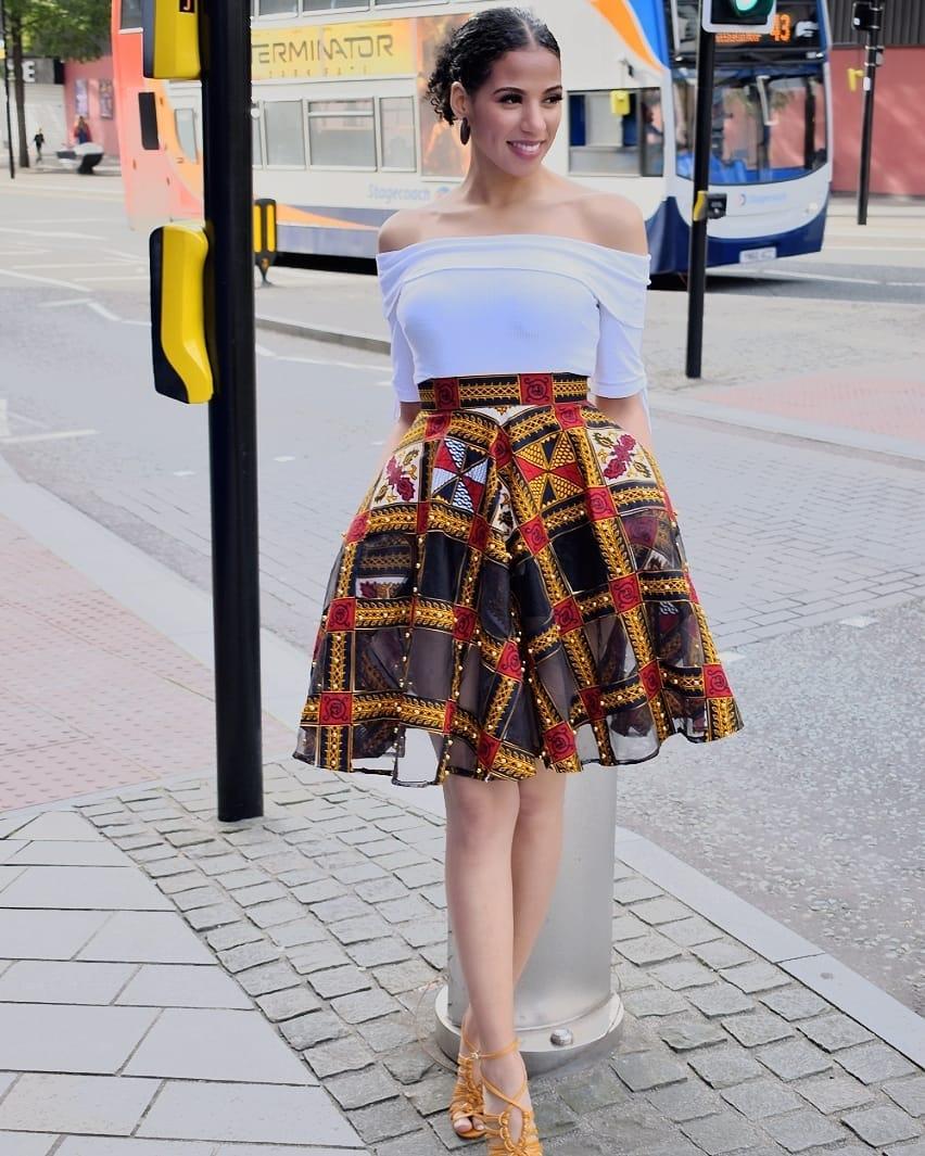 Ankara Skirt With Pockets