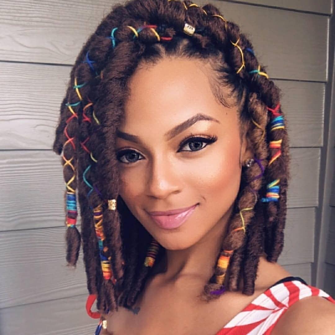 Crochet braid hairstyle idea