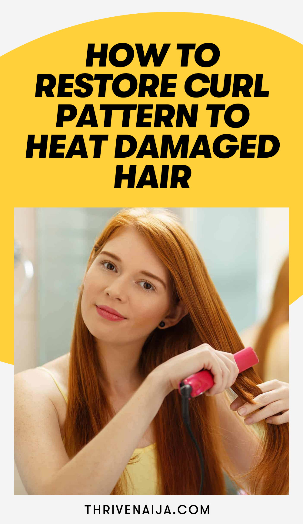 How to Restore Curl Pattern to Heat Damaged Hair