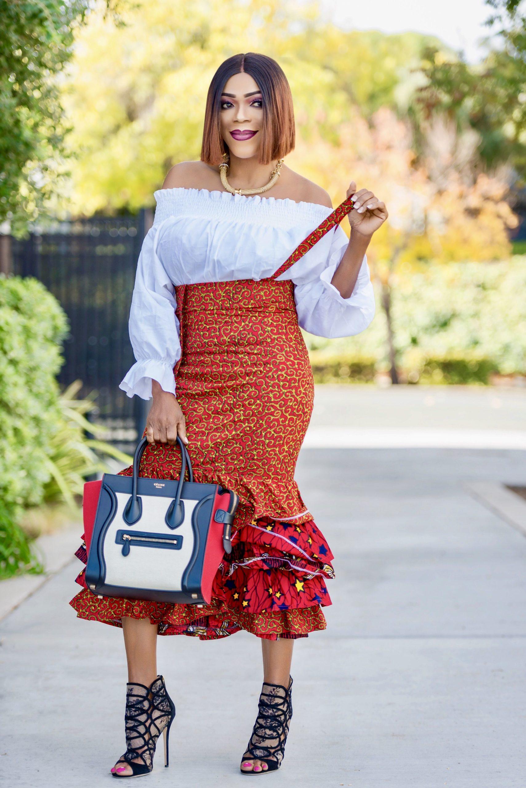 Ankara Skirt With Layered Frock