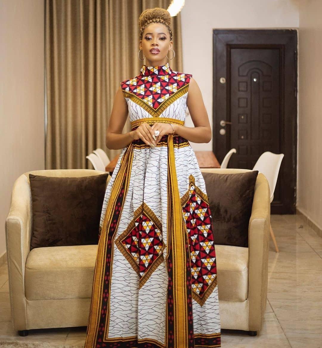 Ankara long gown style 2020