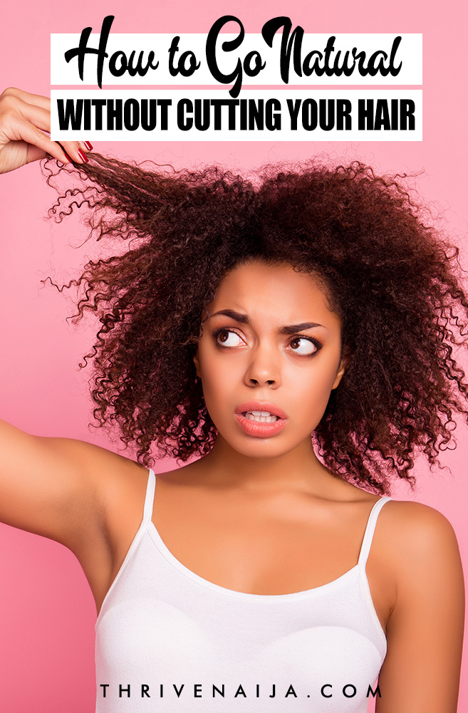 How to go natural without cutting your hair