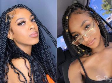 medium box braids style ideas