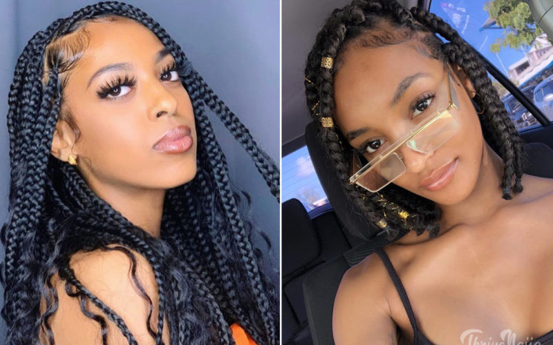 medium box braids style ideas