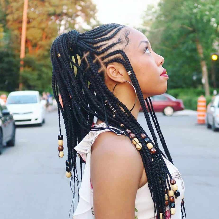 Tribal Braid With Beads
