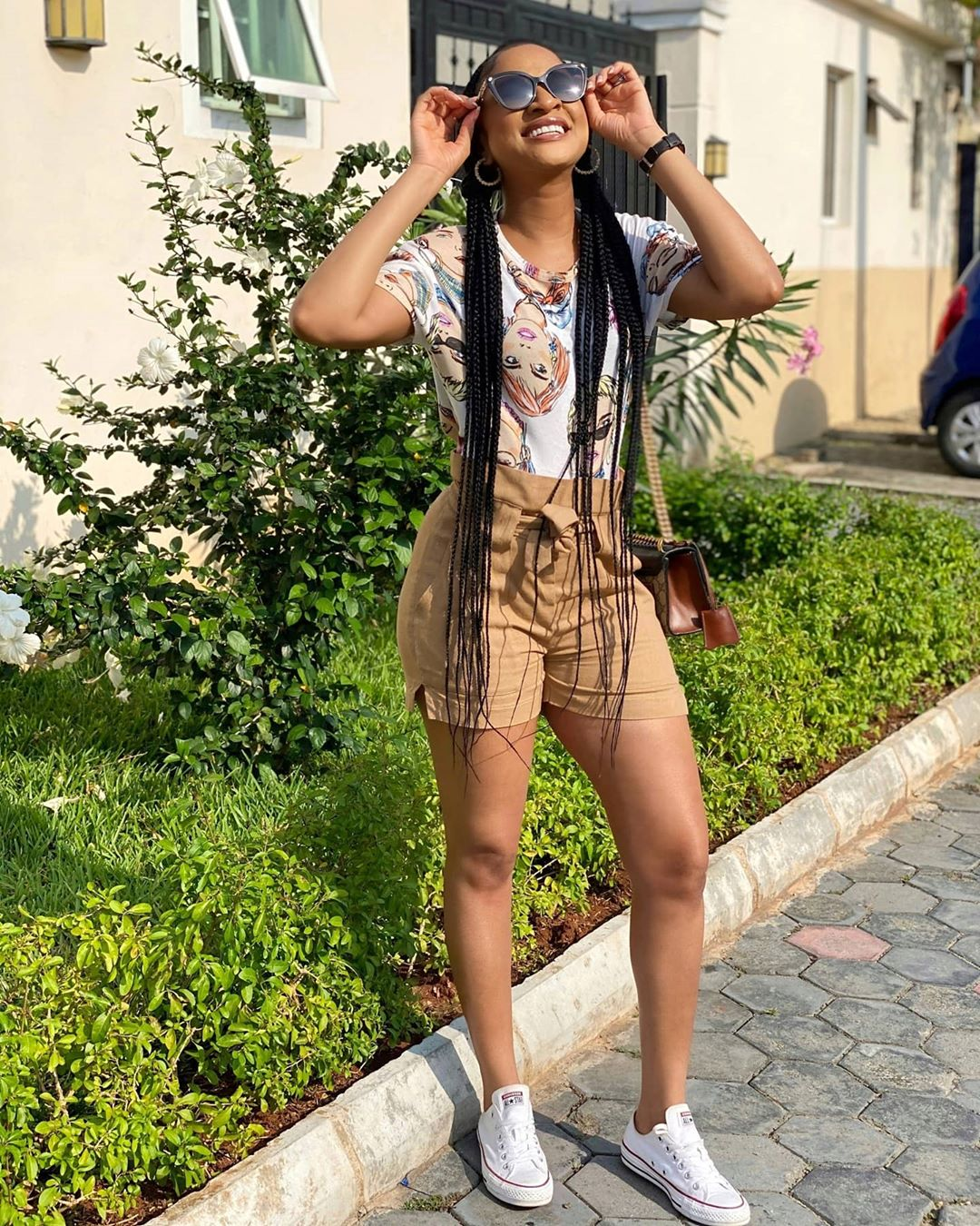 Adesuwa Etomi Steps Out In Simple Shorts Looking Quite Dashing