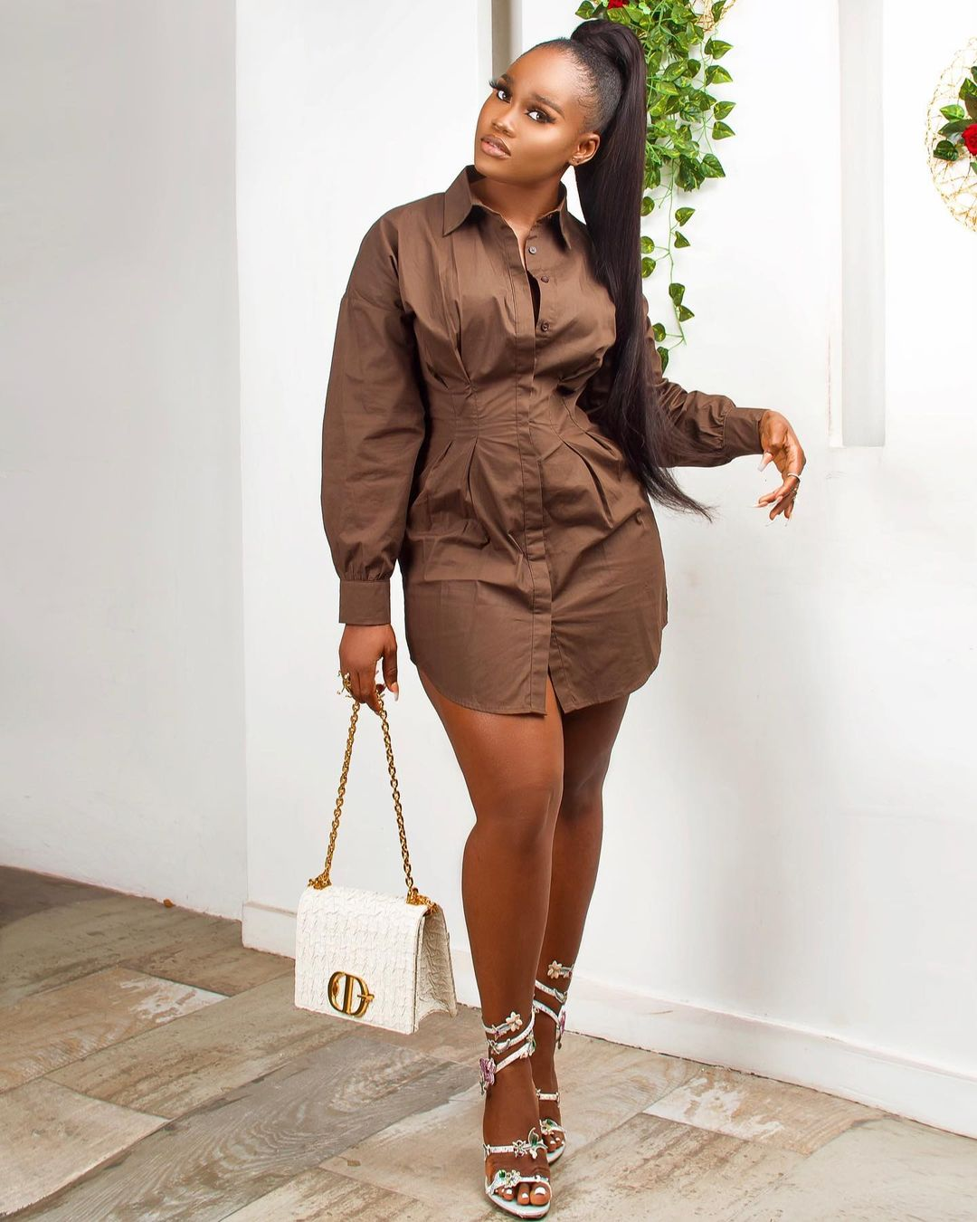 Cynthia Nwadiora long Sleeves Shirt Dress Keeps The Sass In Check