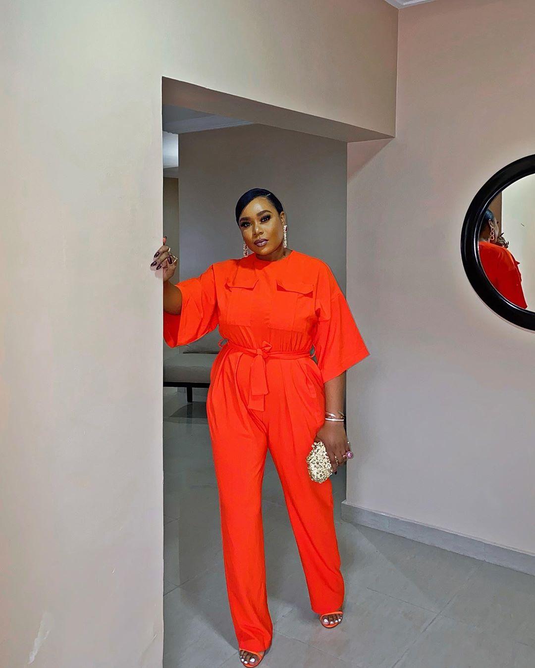 Mimi Onalaja Makes It Classy With Orange