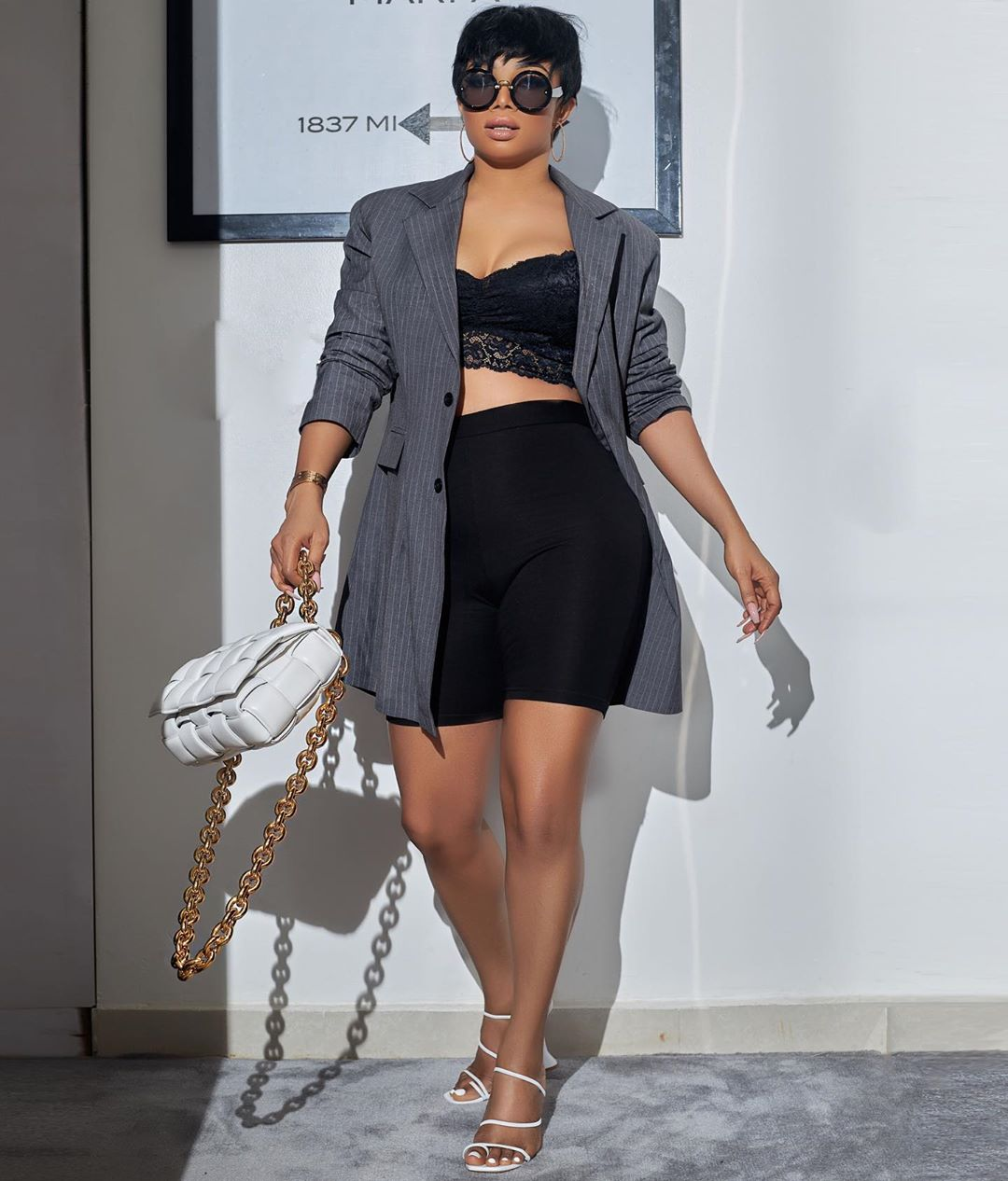 Toke Makinwa Paired Her Biker Shorts With Blazer And We Love It