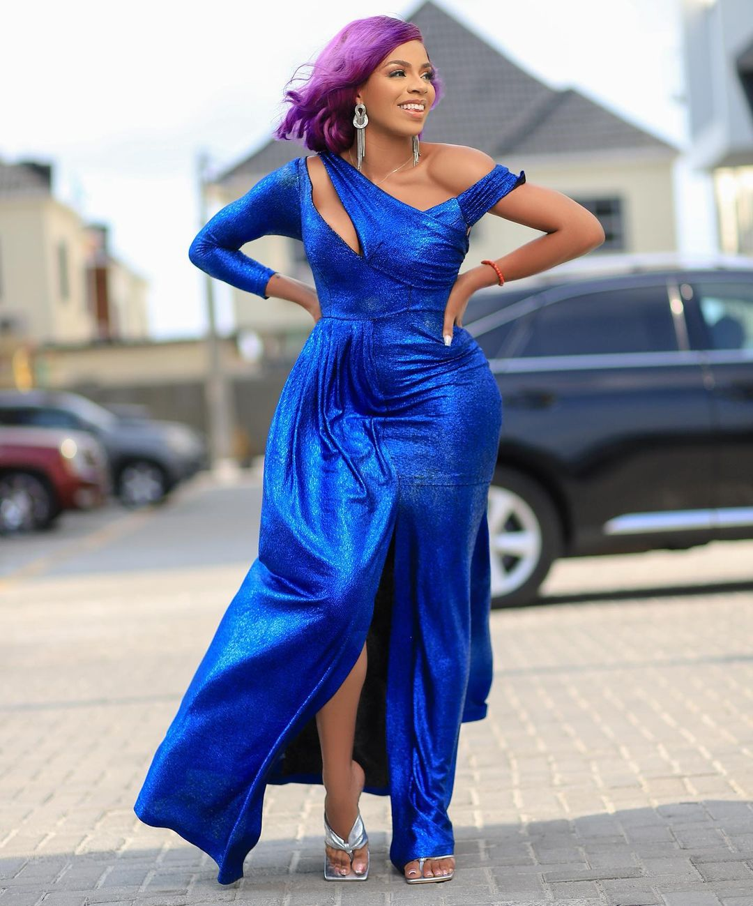 Venita Apofure Blue Gown Is Sure Pulling The Attention