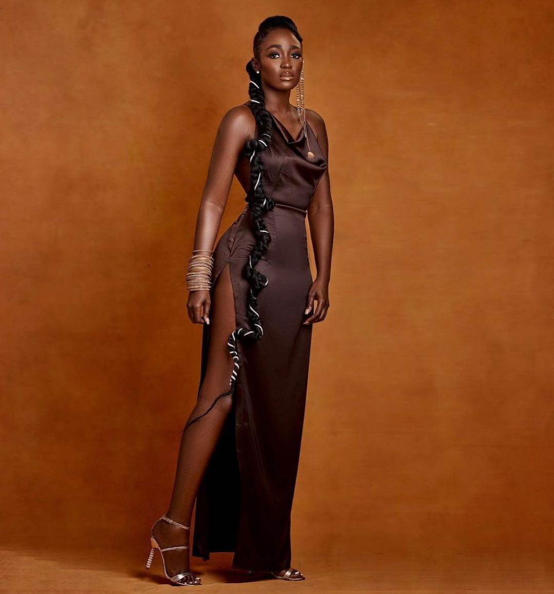 Tolu Bally Elegant Chocolate Gown Is All The Glamour You Need