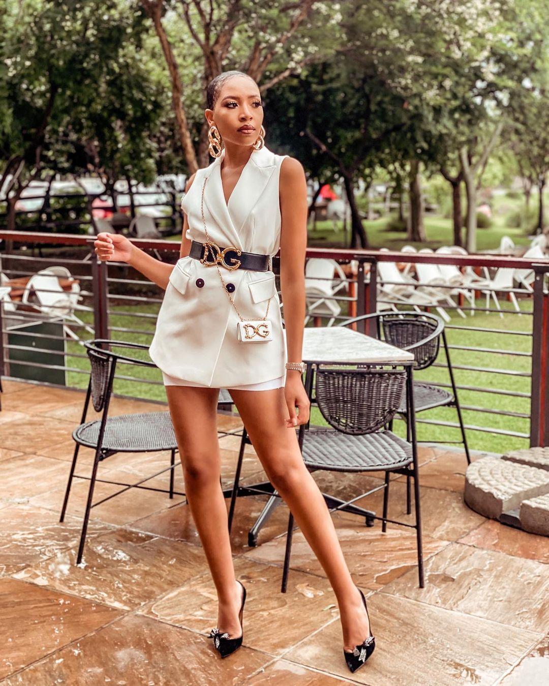 Blue Mbombo Micro Blazer Dress Keeps It Fun And Fancy