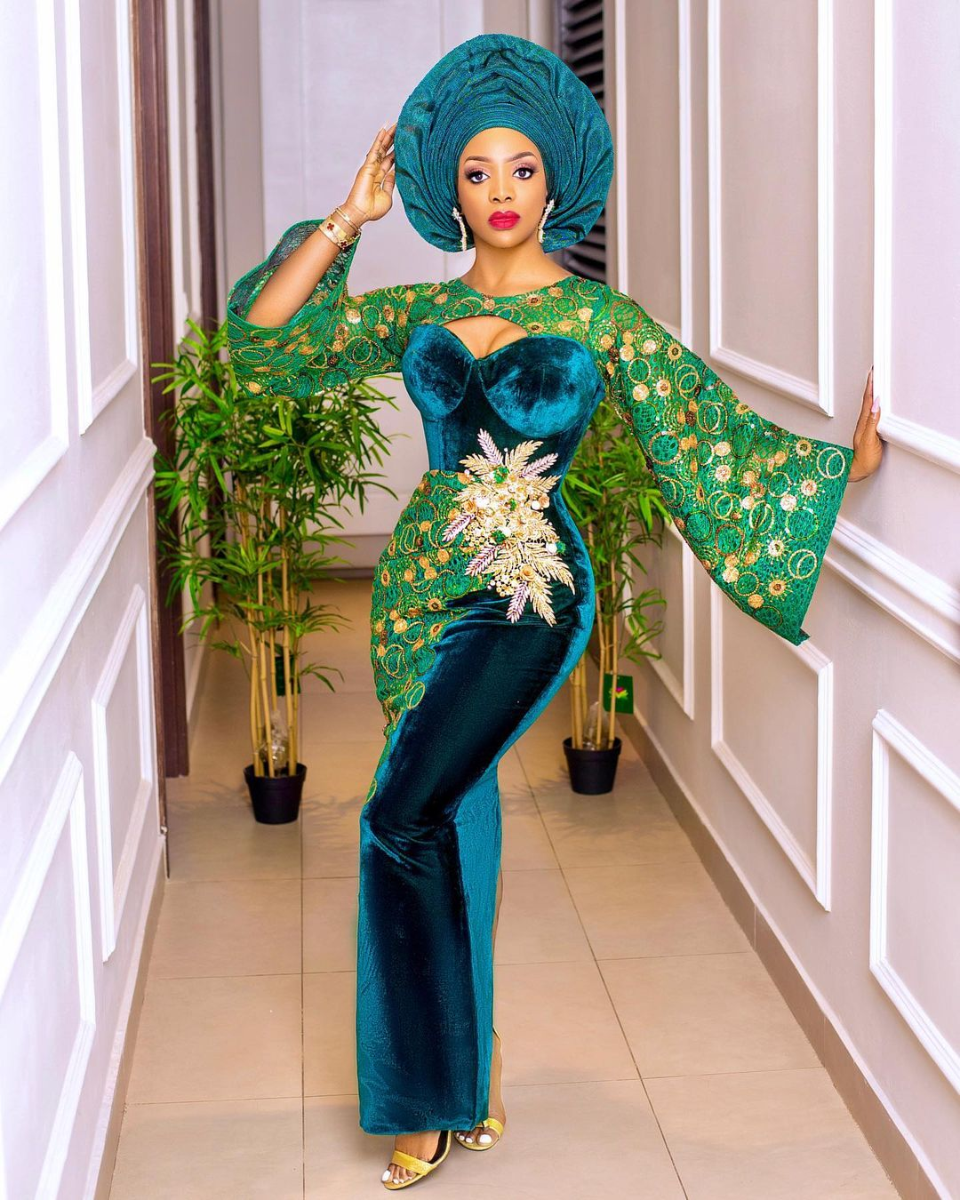 Chioma Goodhair Owambe Outfit Leaves No Stone Unturned