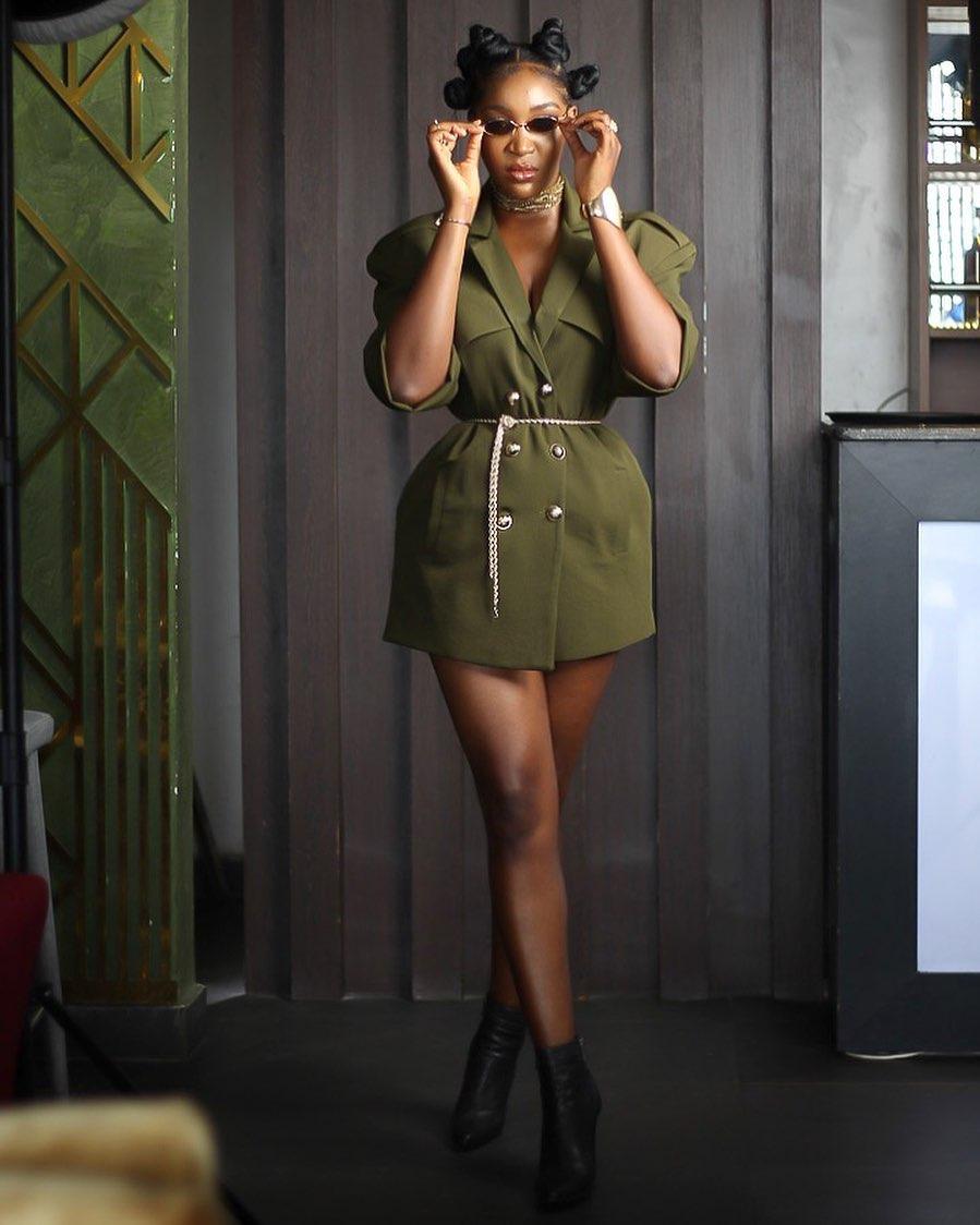 Idia Aisien Stun In Cross Leg Pose