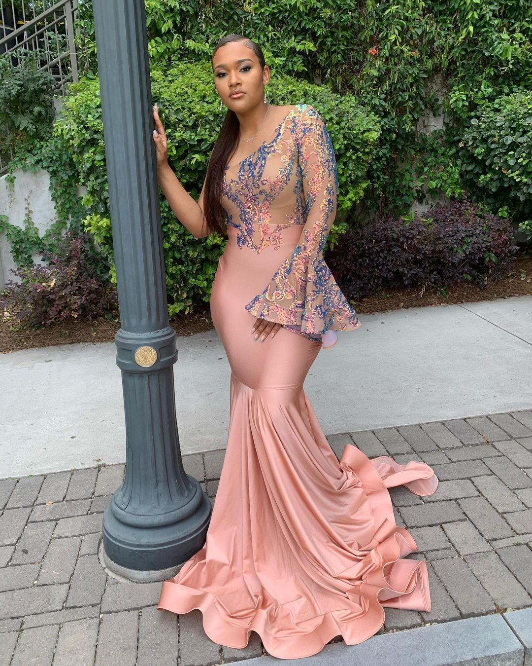 Sleek Conservative Mermaid Gown