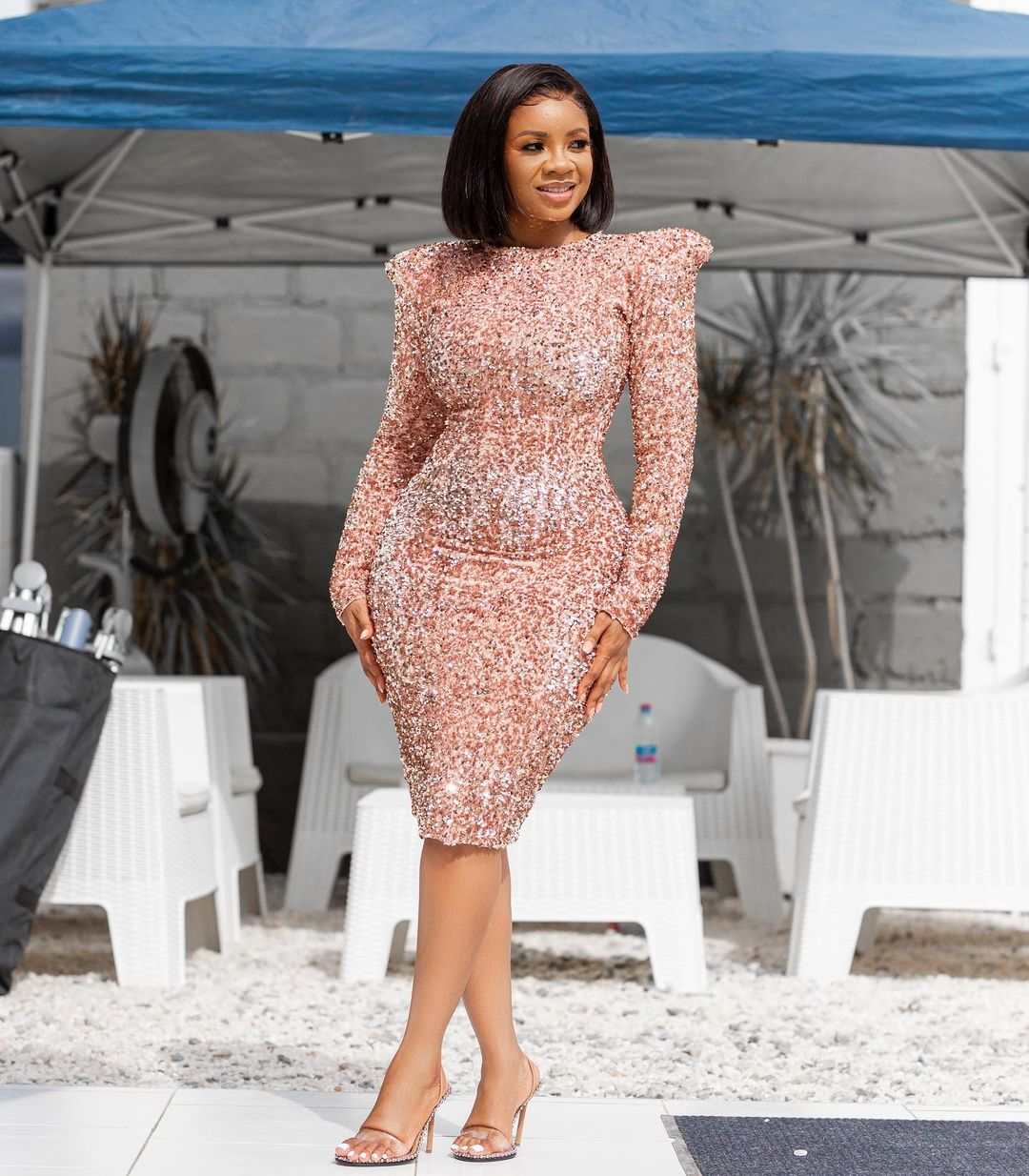 Serwa Amihere Keeps It Sleek With A Gown