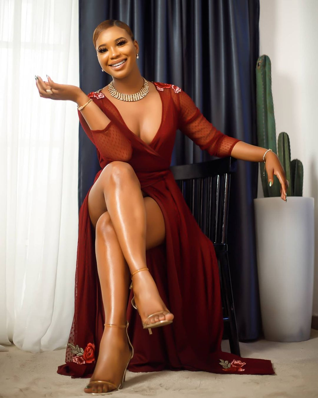 Angel Obasi Redefine Wrap Dress With This Stunning Style
