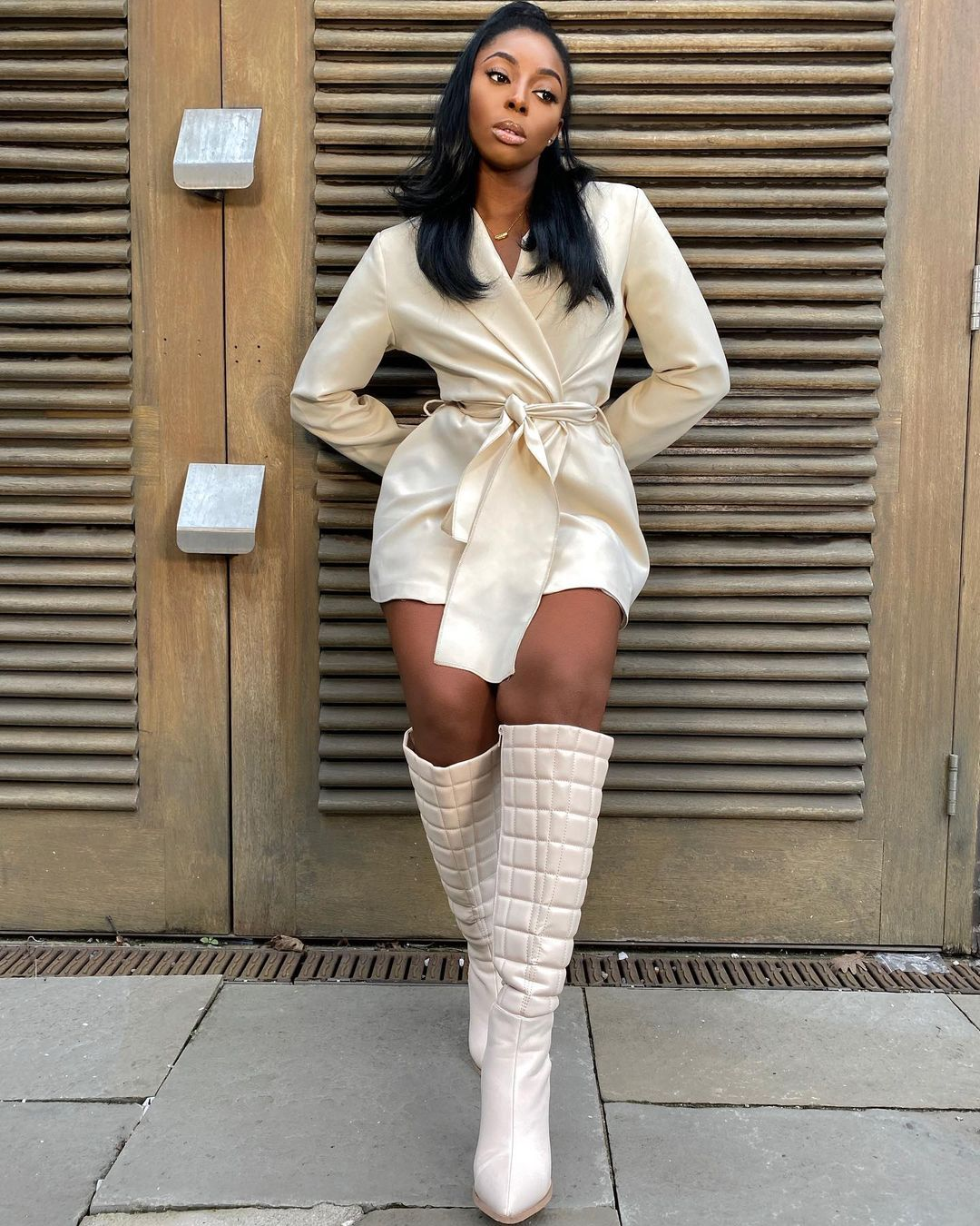 Tia Mariane Nelson Stylish White Boot Is The New Style Rave