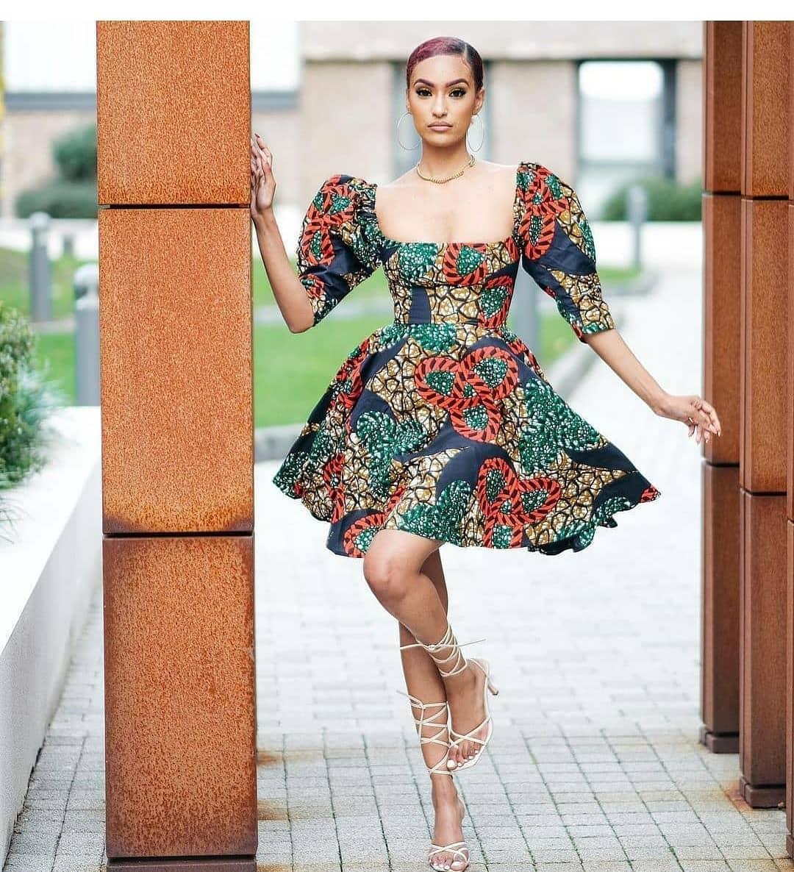 Mini Free Ankara Style With Cap Sleeve