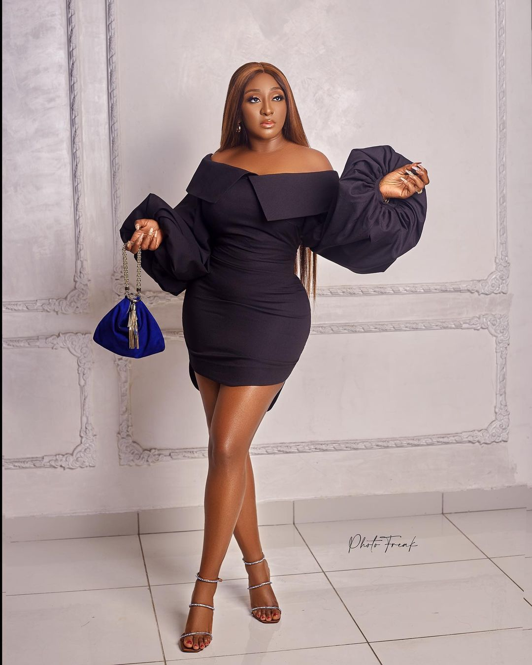Ini Edo Keeps It Simple And Sassy In A Black Dress