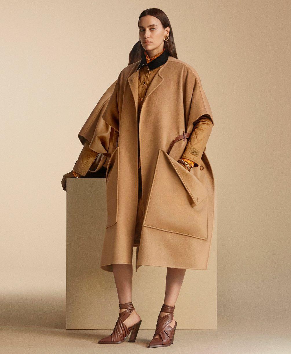 Irina Shayk Gives A New Way To Wear Oversized Coat