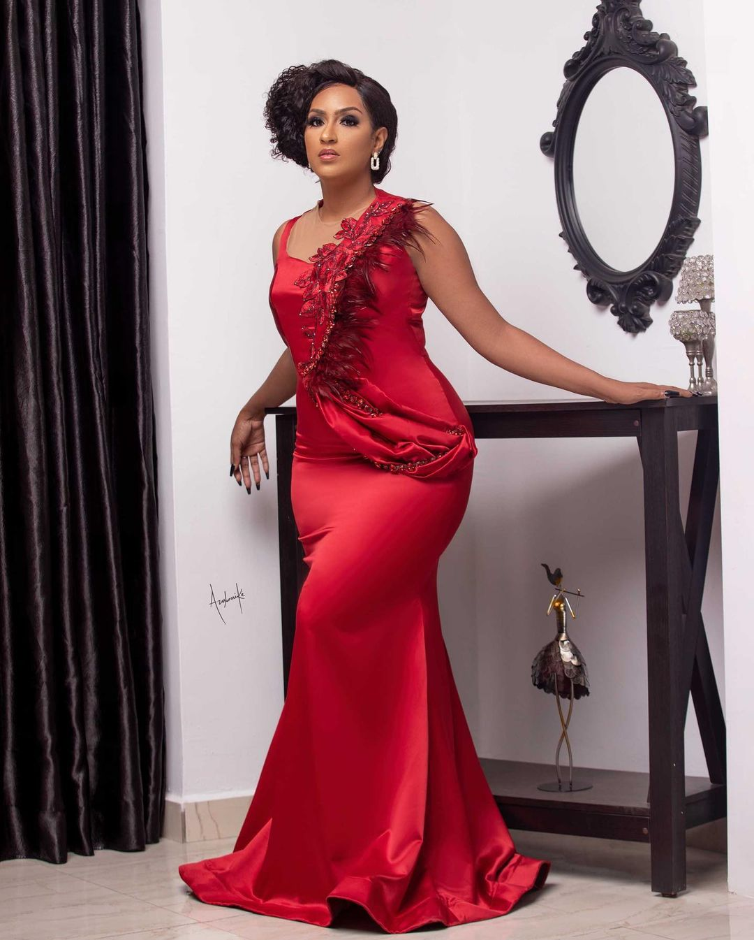 Juliet Ibrahim Flashing Red Dress Is Find Fit For Xmas