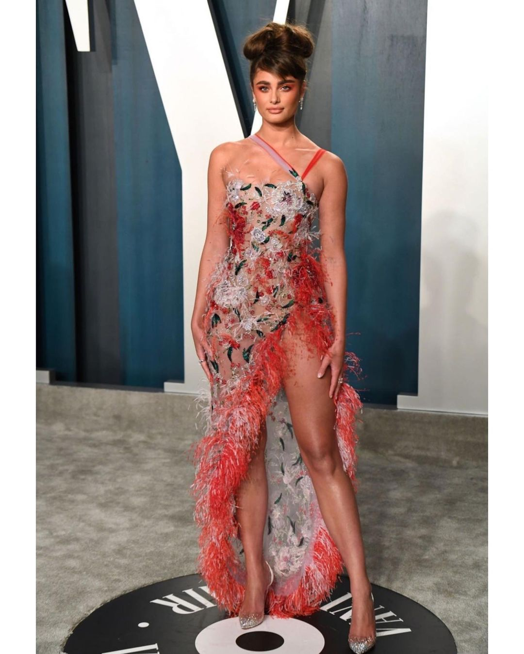 Taylor Hill Split Dress Look Stunning