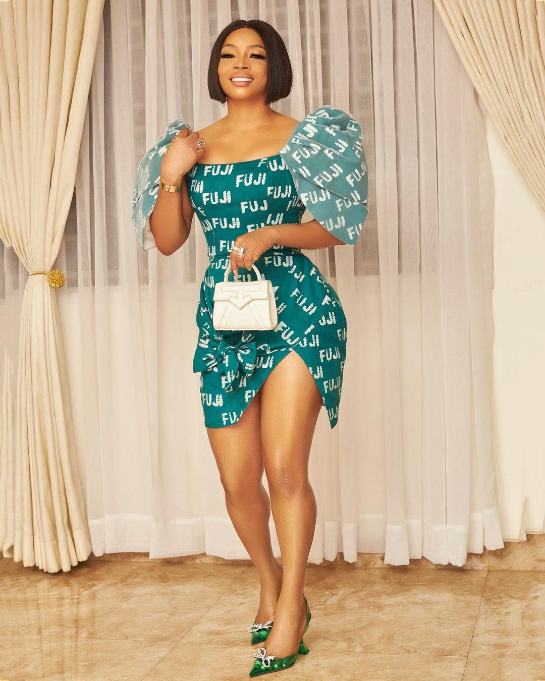 Toke Makinwa Stylish Pose And Outfit Is Sure To Turn Heads