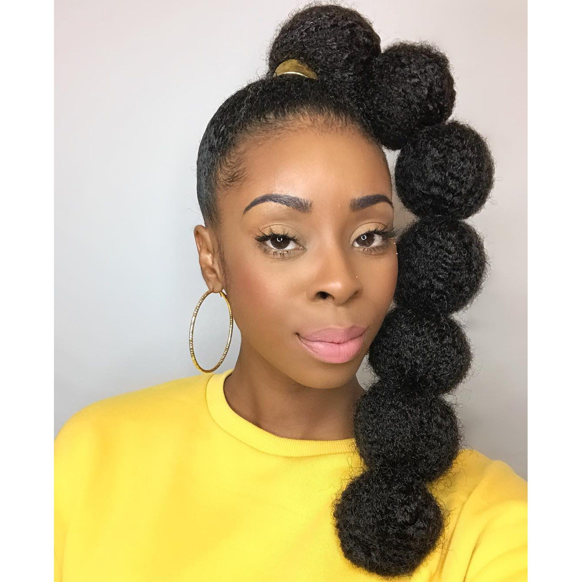 Afro Ponytail Bubble Braid