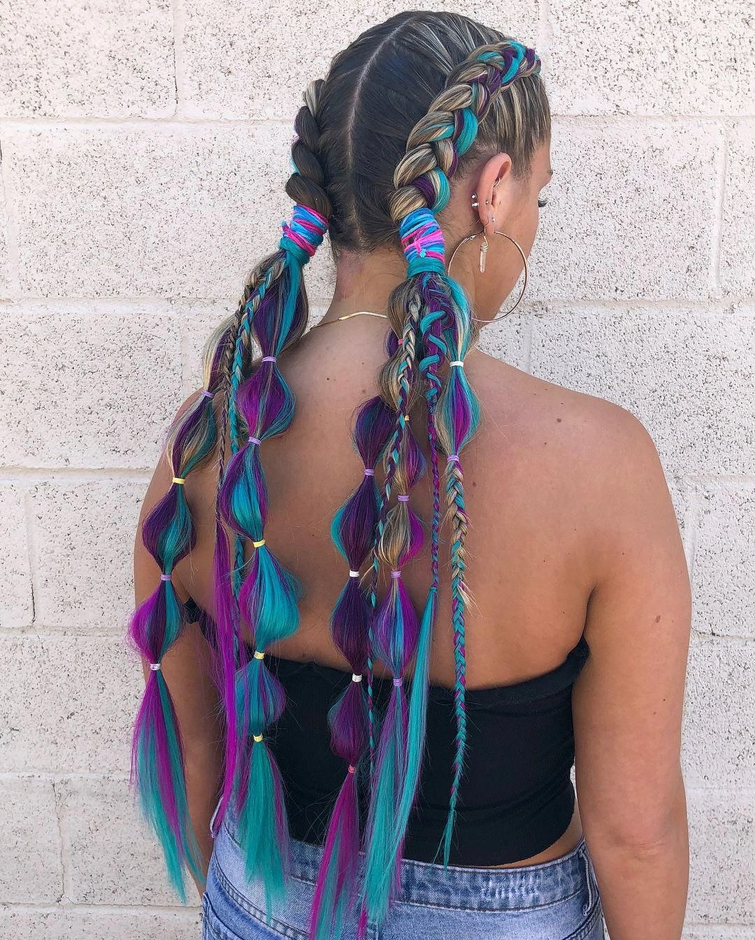 Cool Blue Bubble Braid
