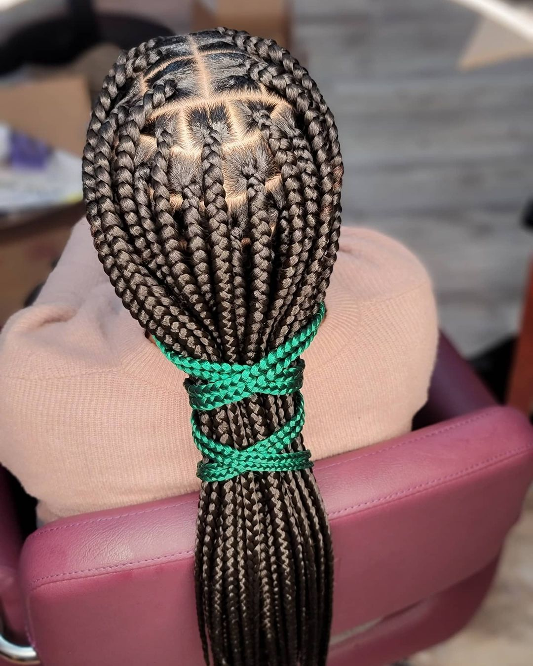 Knotless Braid Color Mixture