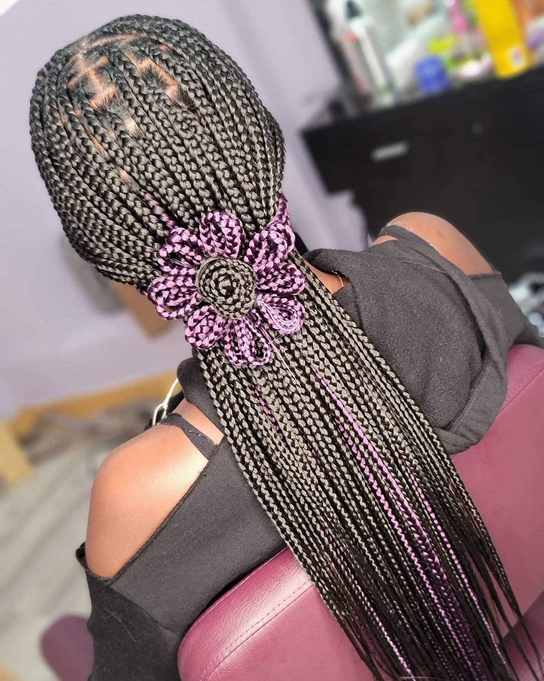 Medium Knotless With A Little Creative Styling