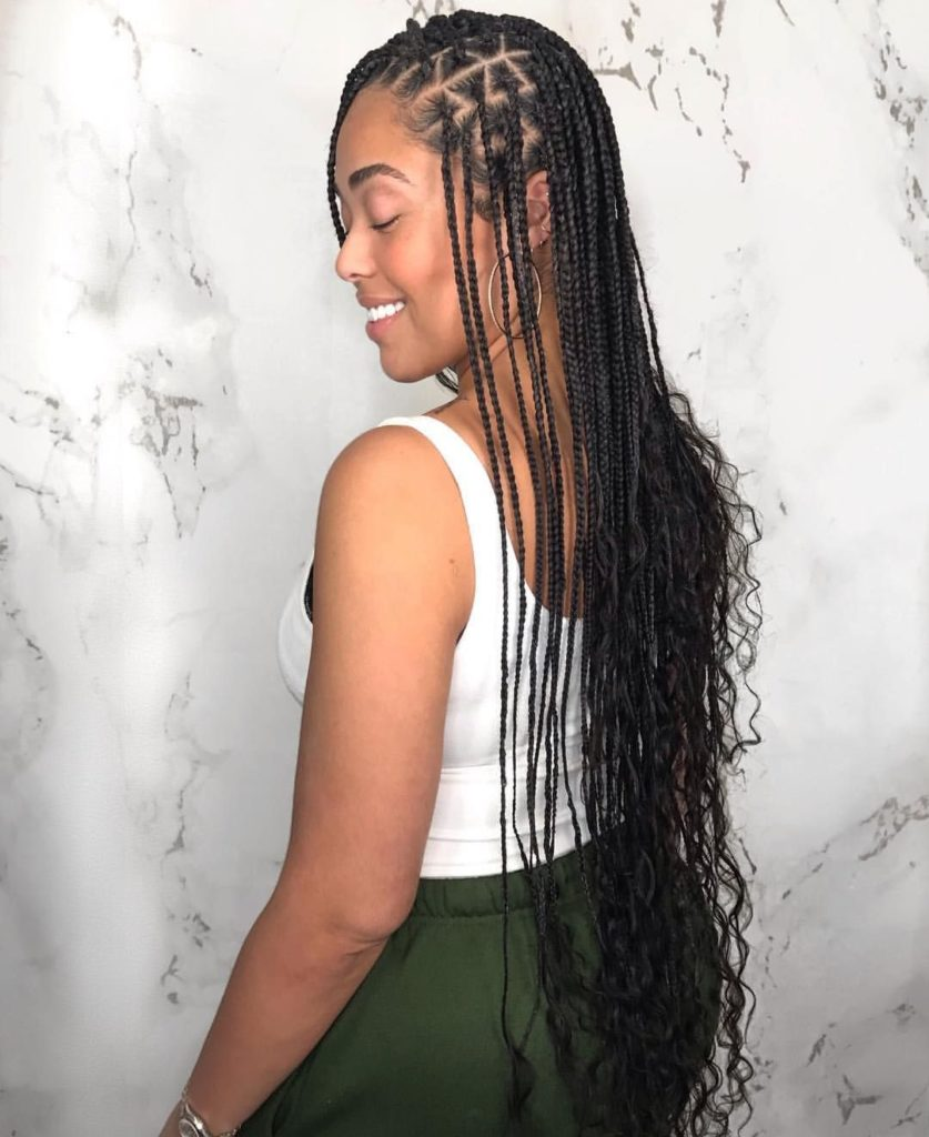 Unrivaled Triangle Knotless Braids