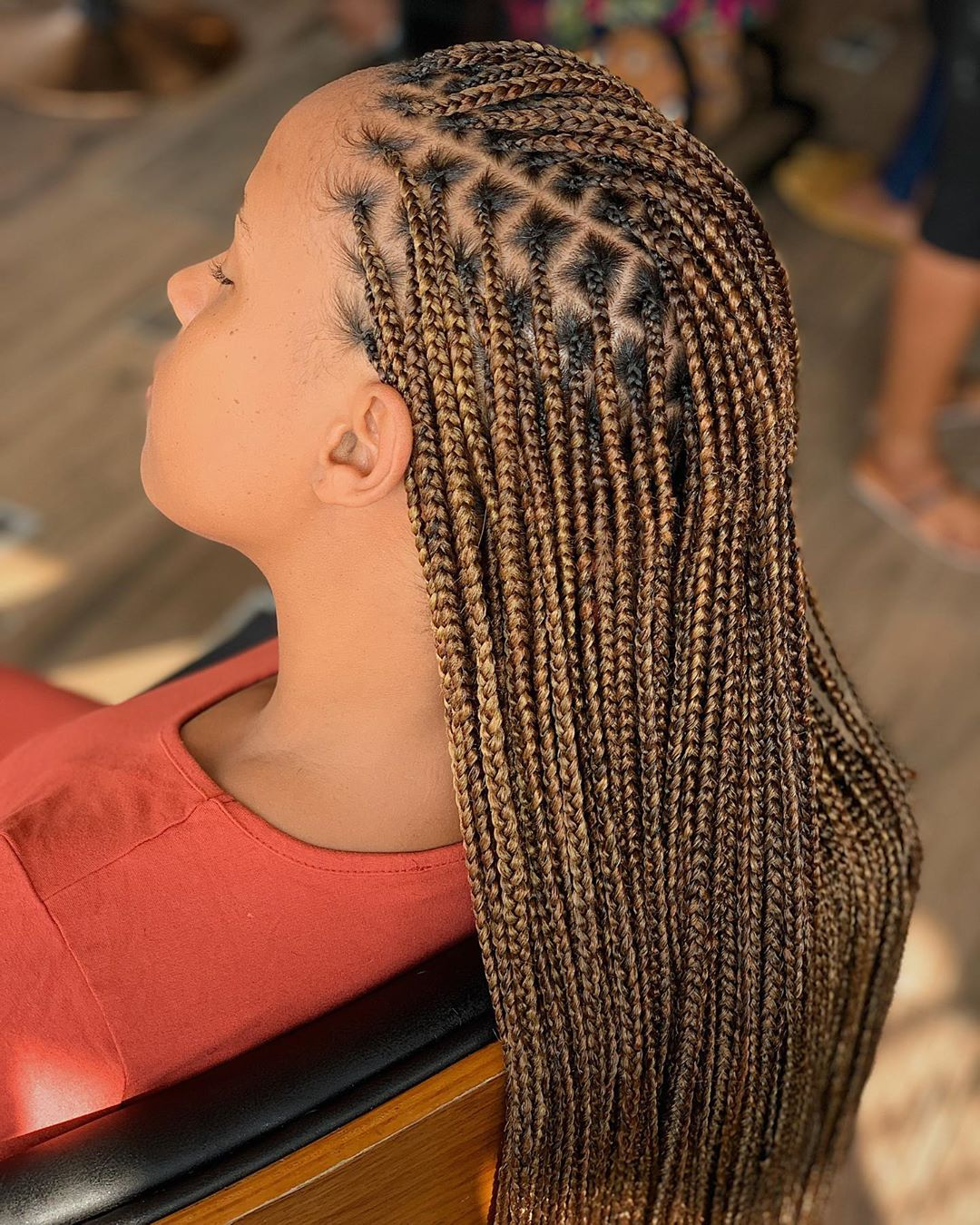 Box Braids Neatly Outlined