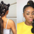 ways to wear bubble braids