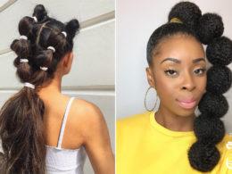ways to wear bubble braids