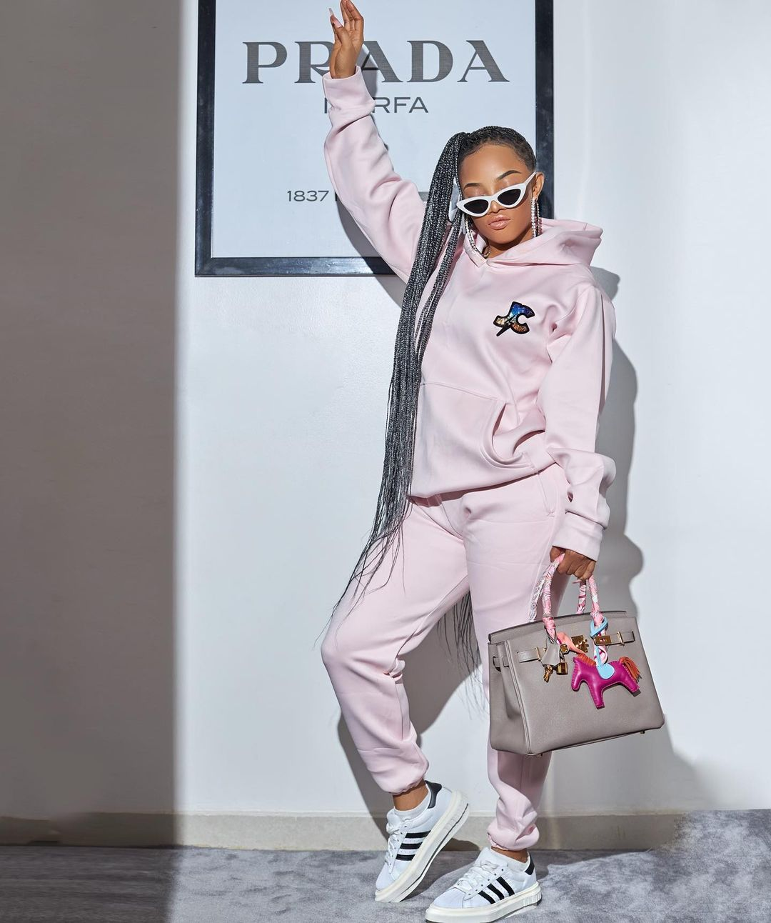 Toke Makinwa on Gap Utility Joggers